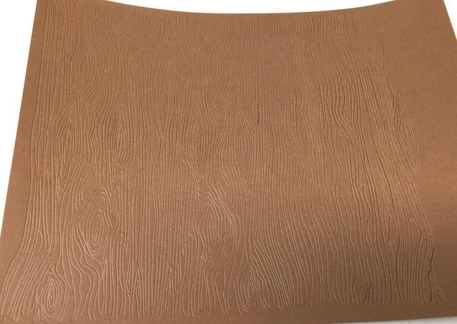 Card stock debossed wood texture