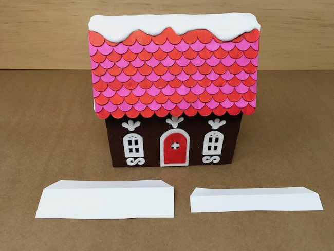 Card stock flaps to help the house adhere to base