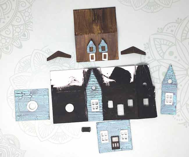 Cardboard pieces for the Sea Shack