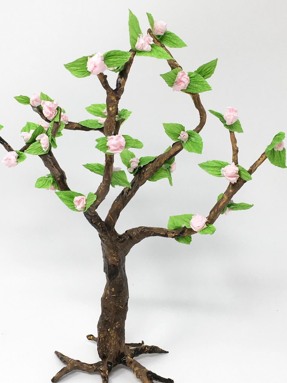 Paper tree decorated with paper Cherry Blossoms for Springtime