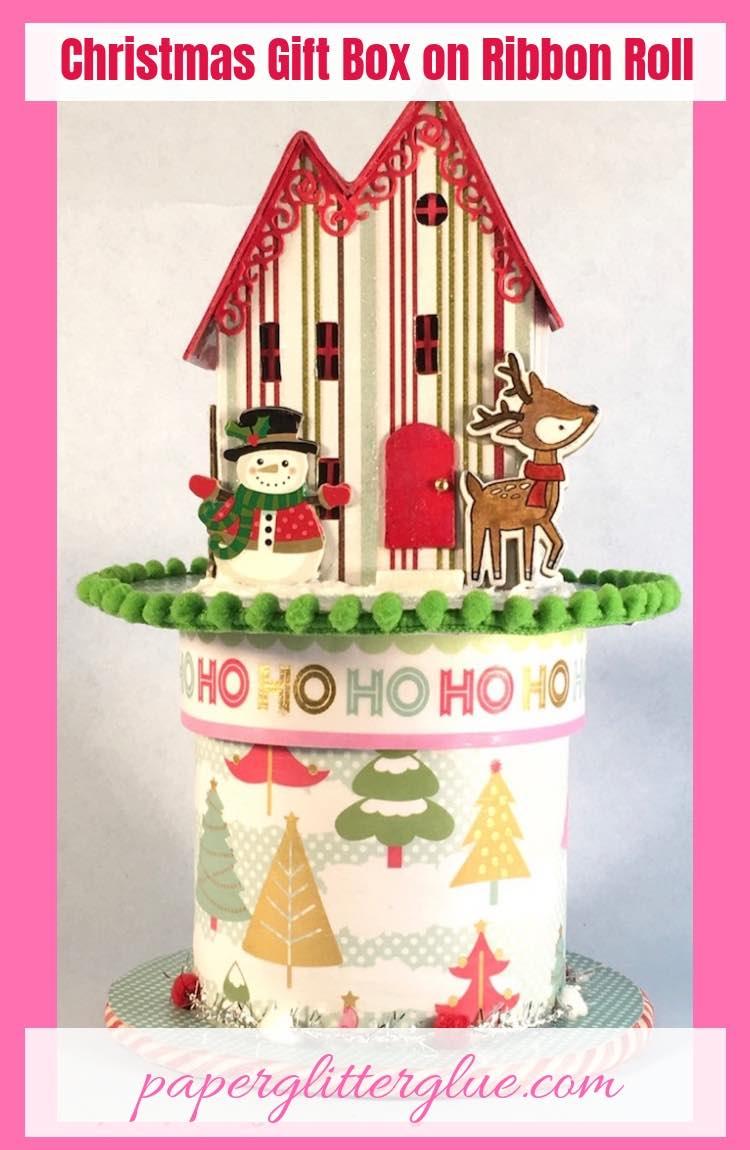 Christmas Glitter House Gift Box