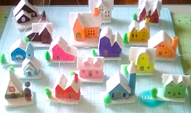 Christmas Holiday Paper Houses 12 houses for Christmas