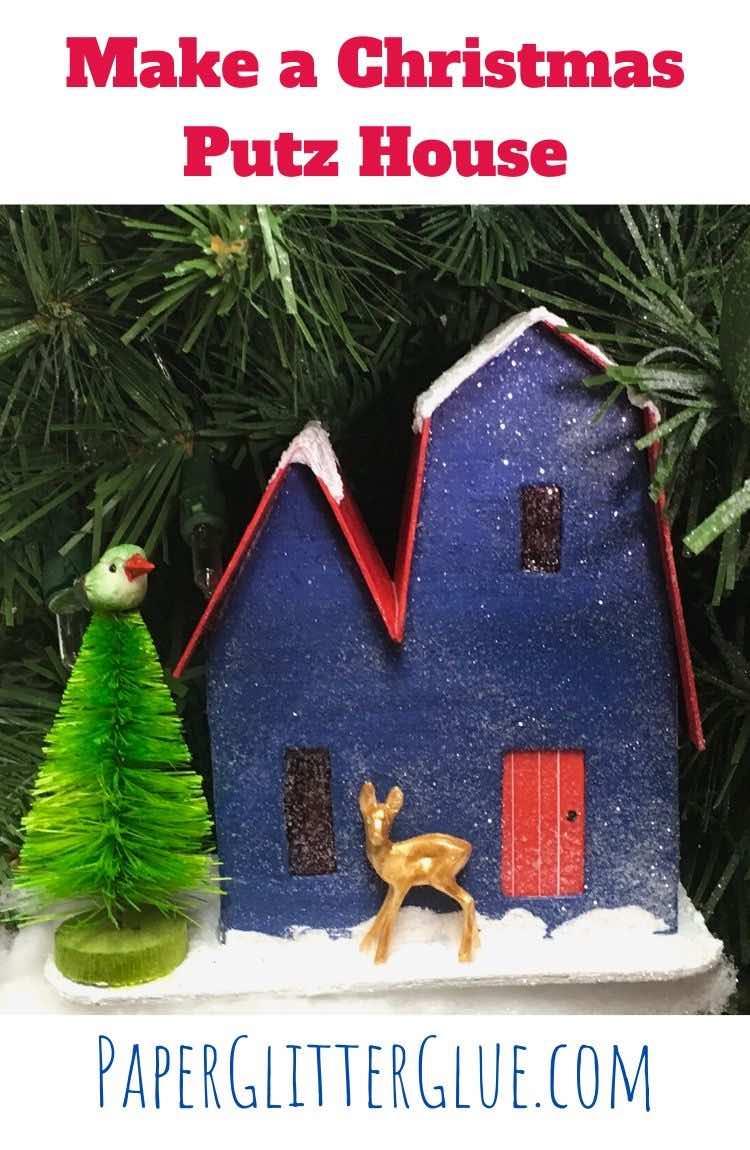 Christmas Putz House No. 1 tutorial