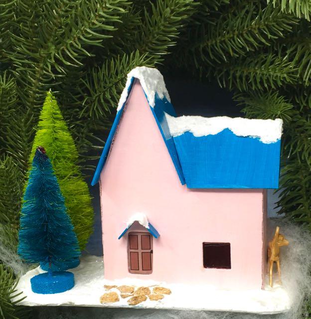 Christmas Putz House No. 4 for 12 Houses of Christmas challenge