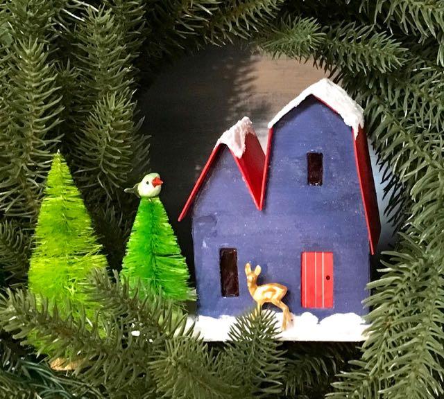 Christmas Putz house No. 1 for 12 houses of Christmas