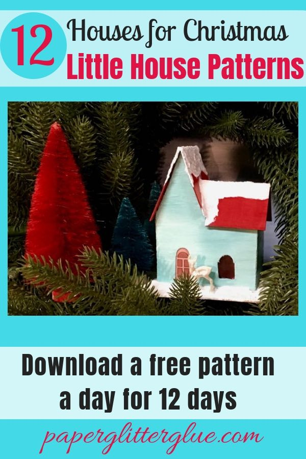 Christmas Putz House no. 4 pattern and tutorial to make Putz house to start your Christmas village.