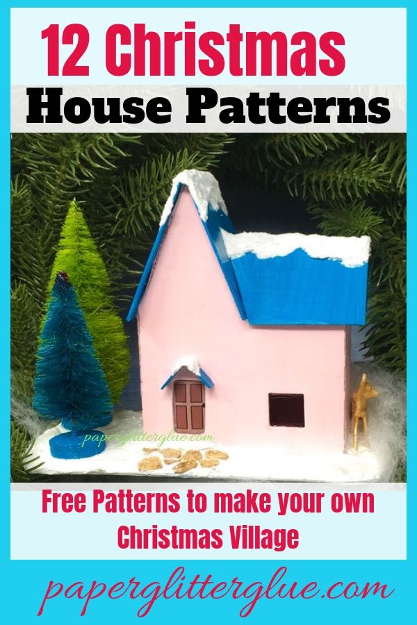Free printable pattern so you can start your Christmas village with this cute little house