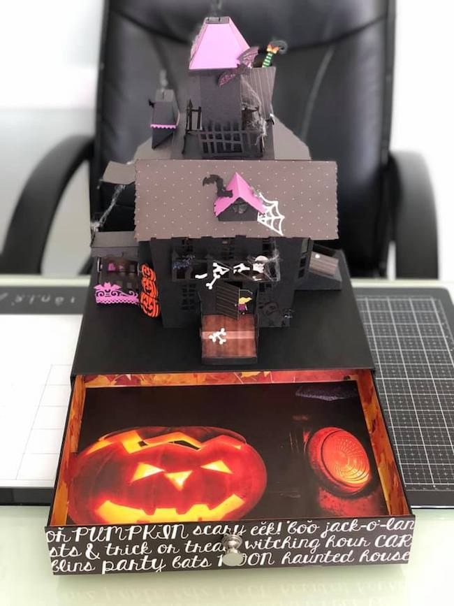 Claus Halloween House with drawer