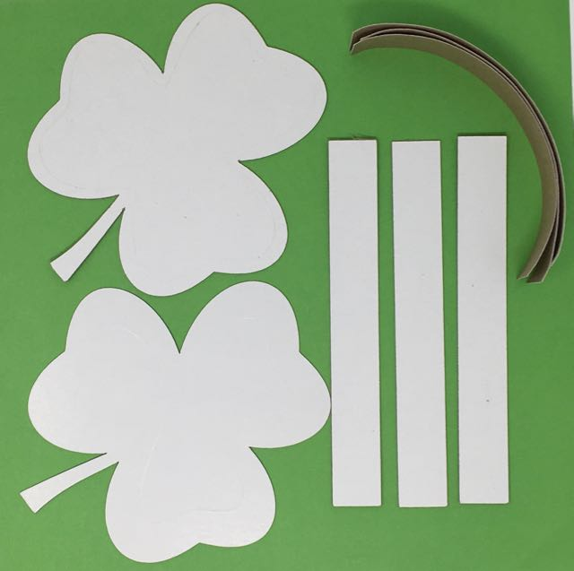 Pattern pieces for Shamrock candy box