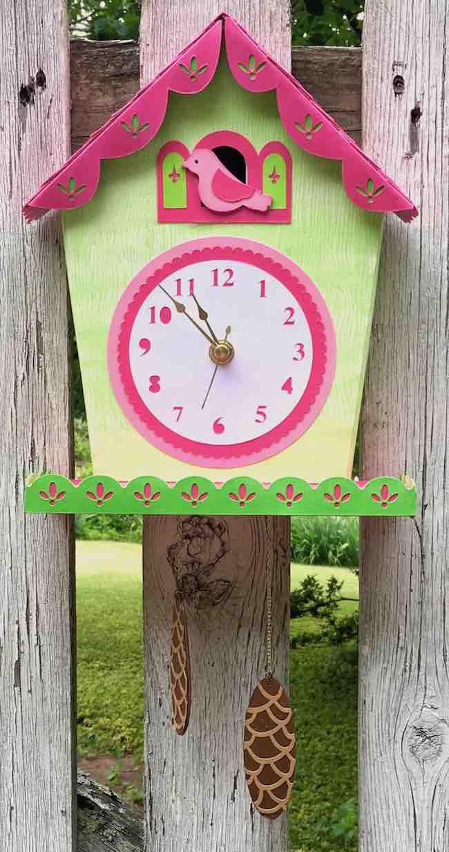 DIY Cuckoo clock on old fence