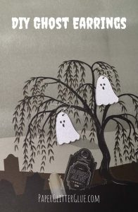DIY Ghost Earrings
