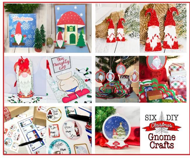 DIY Gnome craft collage
