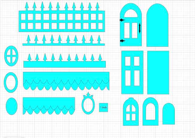 DIY Halloween Dollhouse trim pieces in Cricut's Design Space