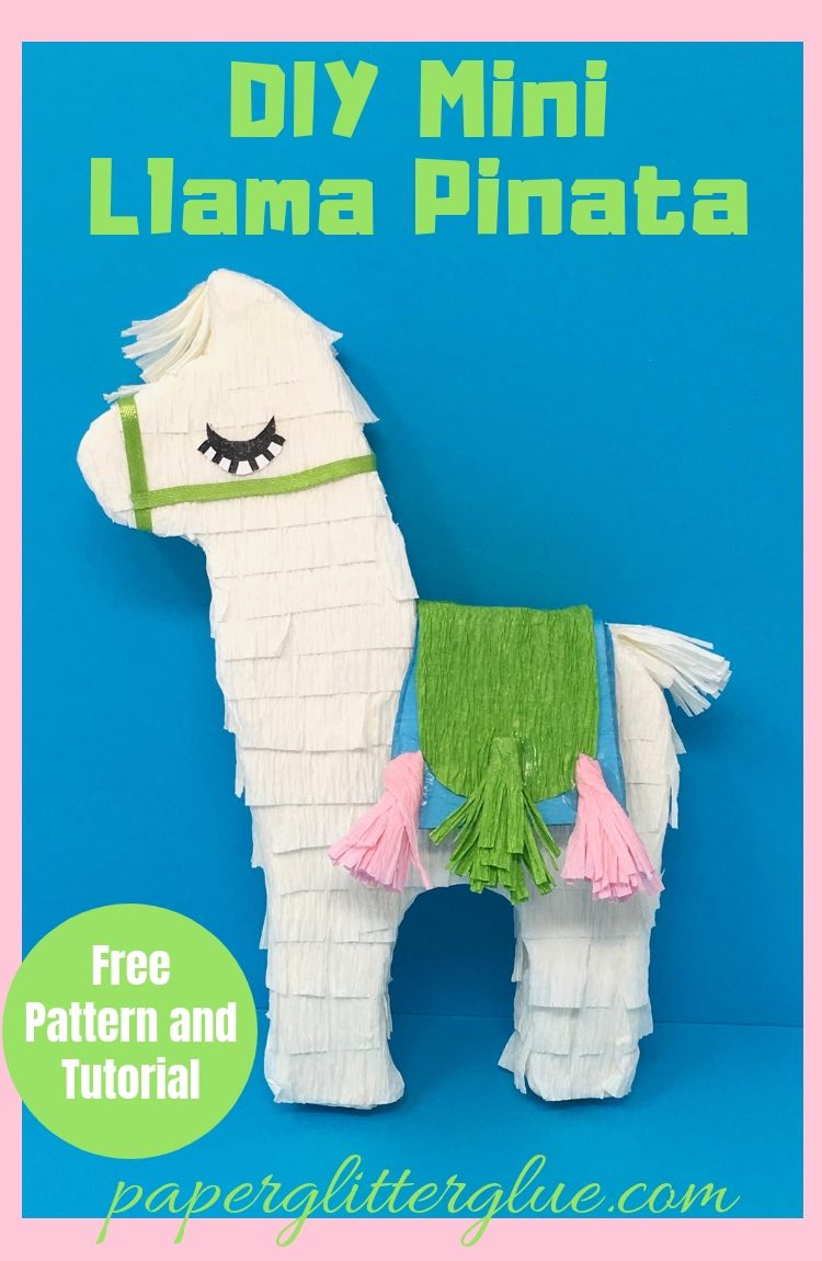 graphic relating to Donkey Pinata Template Printable named Do-it-yourself Mini Llama Piñata - How in the direction of Crank out the Cutest Small Llama