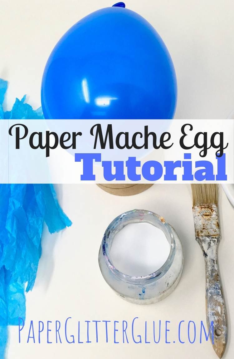 DIY Paper Mache Egg how to make