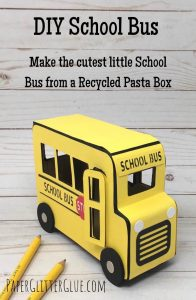 DIY School Bus recycled box