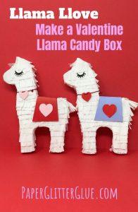 DIY Valentine Llama Candy Box