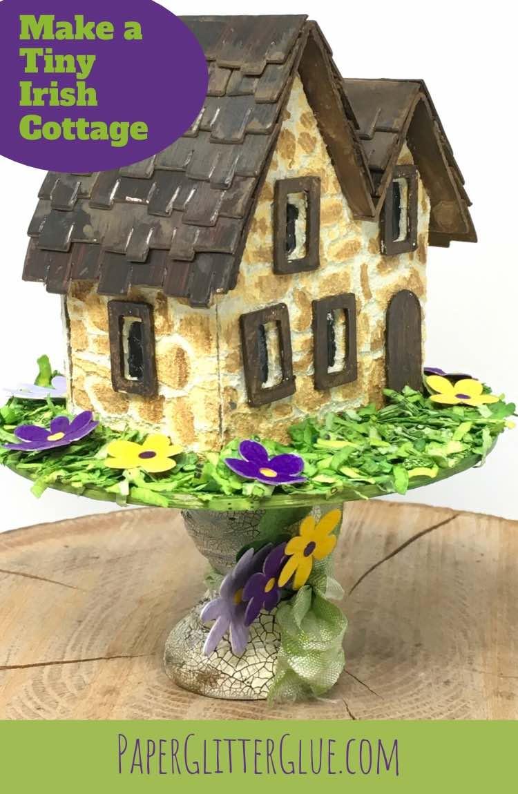 DIY miniature irish paper cottage