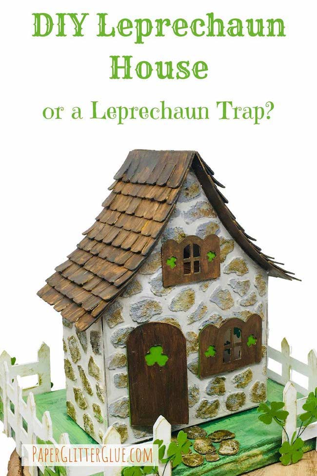 DIY tiny leprechaun house or leprechaun trap