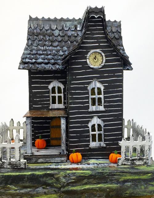 Davenport Hall Halloween paper house