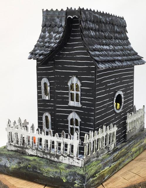 Rear view of Davenport Hall Halloween House
