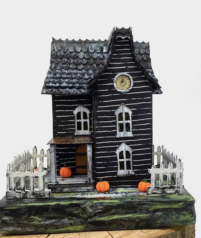 Davenport Hall spooky paper house