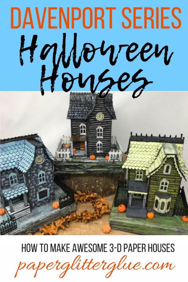 Halloween Paper Houses 3-D putz houses
