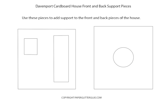 Davenport house front and back support pieces
