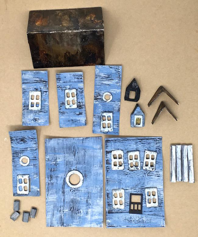 Distressed components Beach Paper Putz House