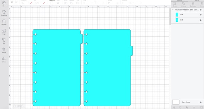 Dividers with tabs for Disc Bound Notebook