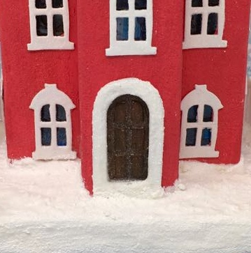 Door panels Kelly's Christmas Clockhouse #putzhouse #papercraft