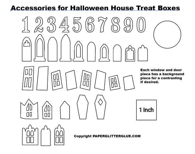 Doors window options for Halloween candy box