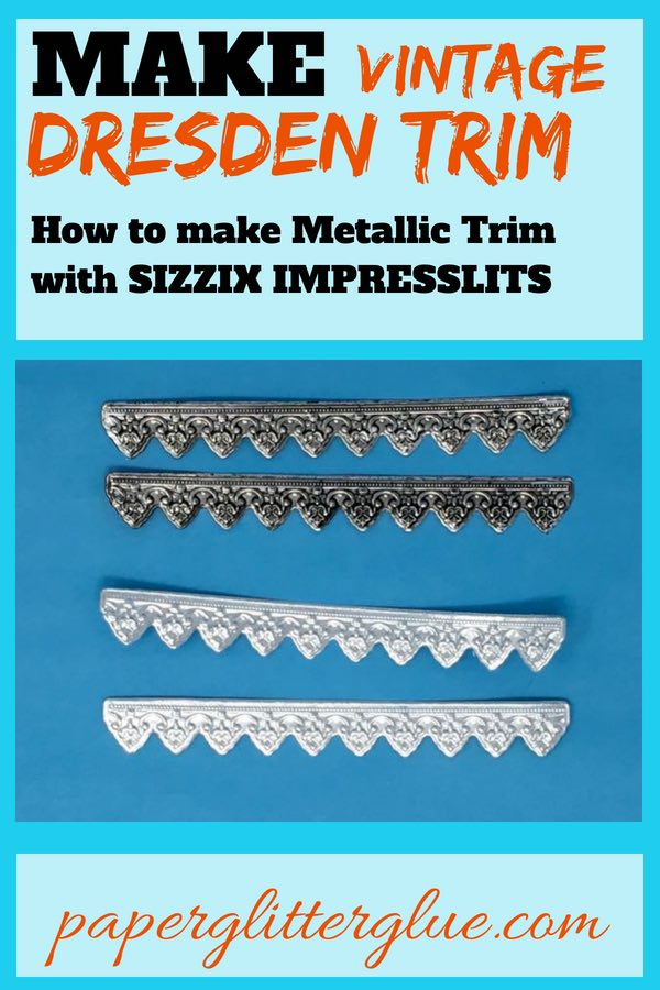 Make your own Dresden trims with Sizzix impresslits #papercraft #craft #holiday