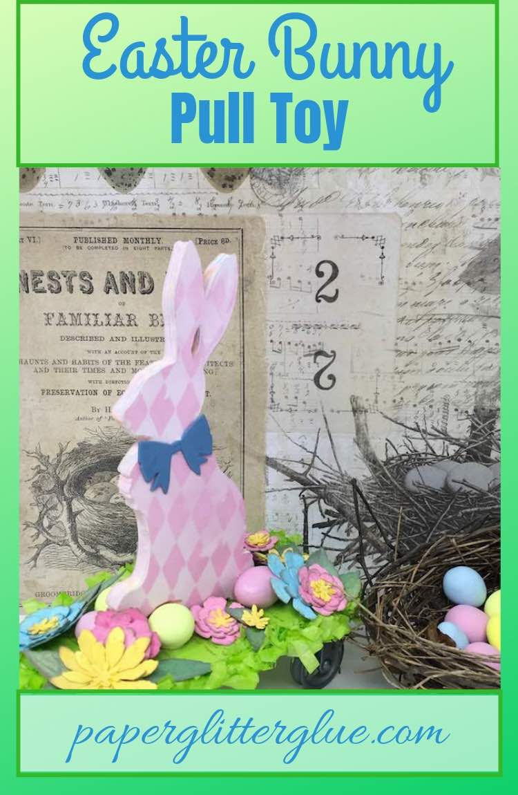 Easter Bunny Pull Toy for DIY Easter Bunny Decoration