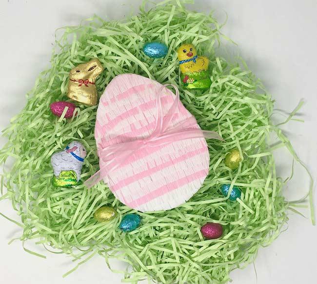 Easter Egg Box decorated as pinata