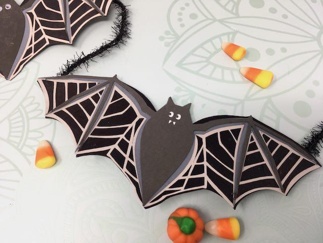 Easy Bat Garland darker upper layer