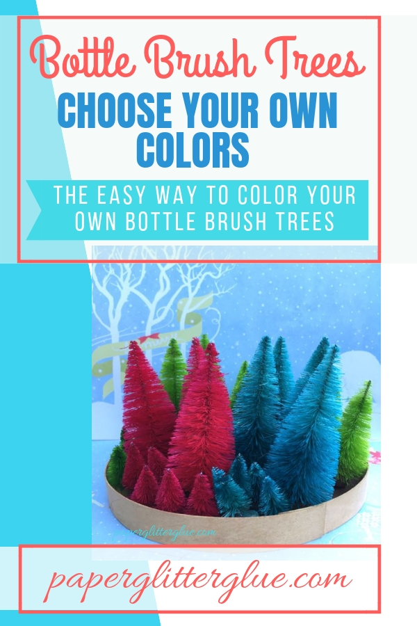 Easy way to color Bottle Brush trees #bottlebrushtrees #christmasdecor #putzhouse
