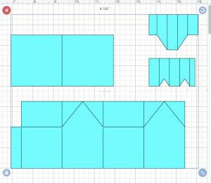 Easy Paper House pattern in Design Space before score lines