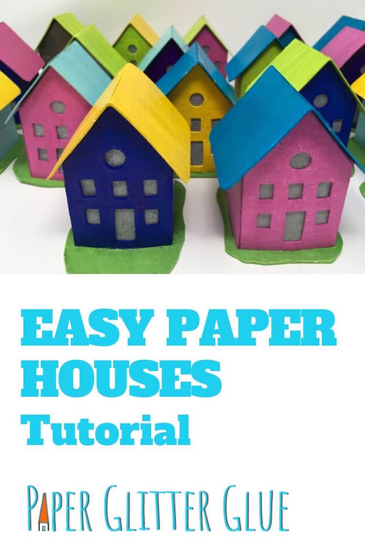 Easy Paper Houses tutorial