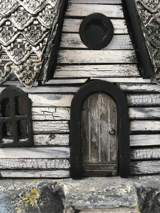 Embossed Roof Halloween House