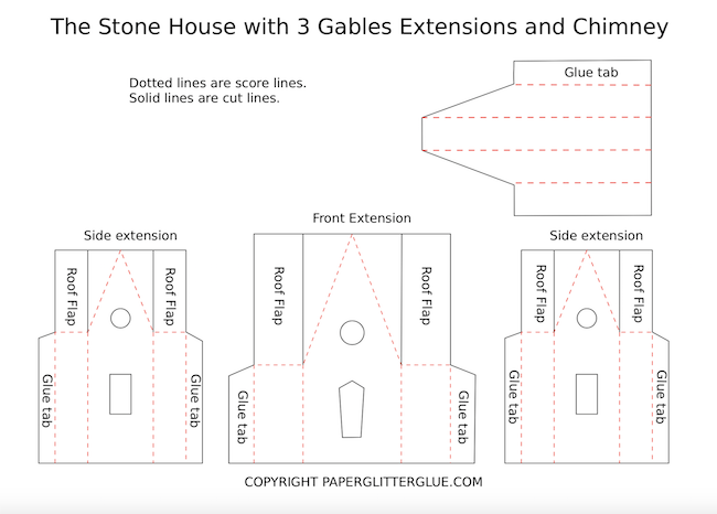 Extension pieces for the Stone house