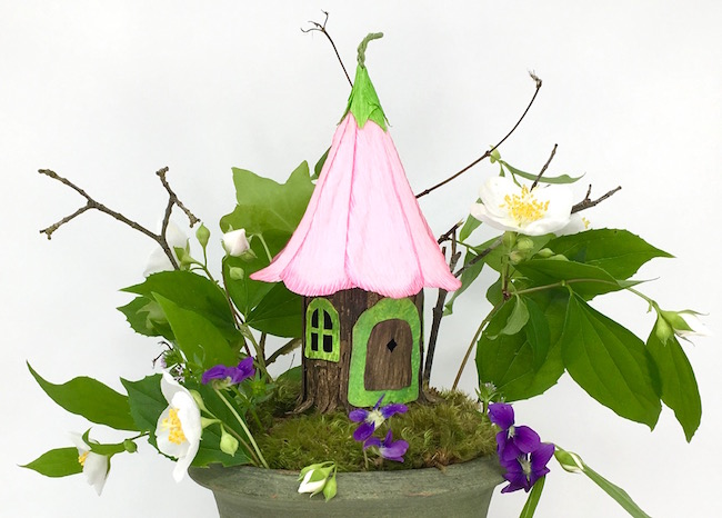 Fairy Paper House made with SVG cut file