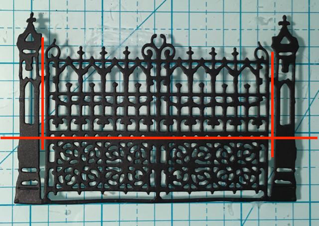 Tim Holtz Gothic Gate for Lady Davenport's house