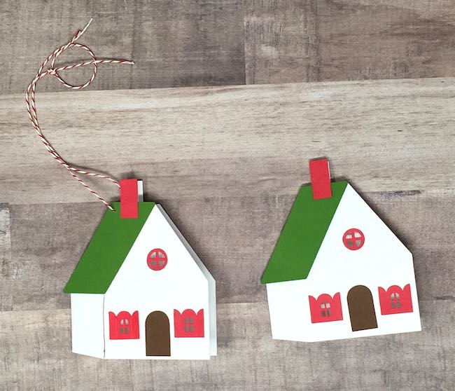 Finished little holiday house card