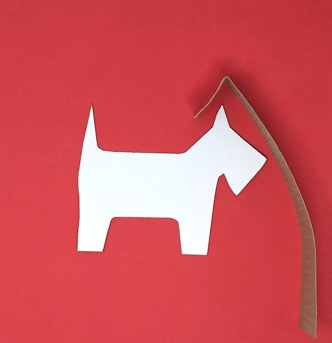 Fold cardboard strips around gift box shape