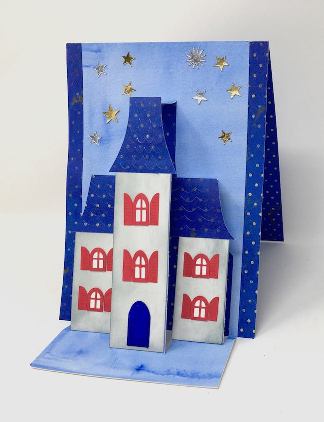 Fourth of July Holiday House card open
