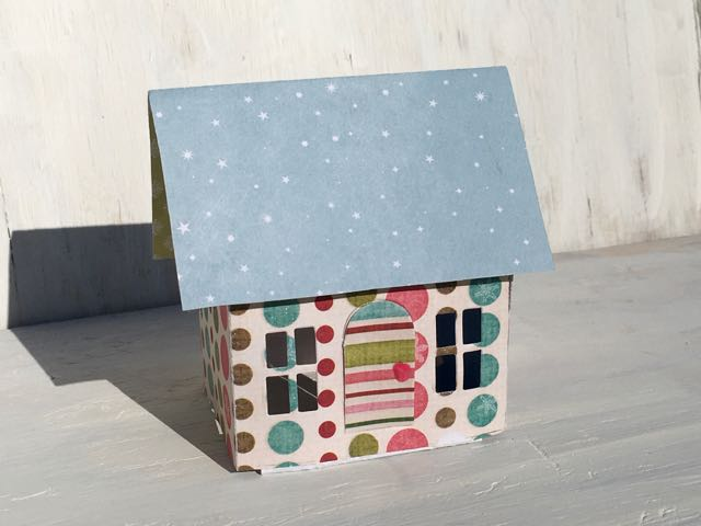 Free standing popup house experiment from Tim Holtz Village Dwelling die modification