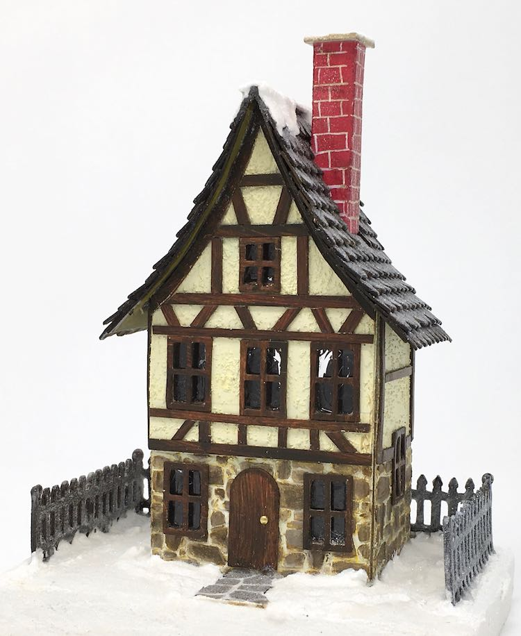 Front of German half timbered Christmas Village House