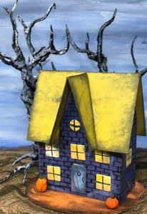 Middle Gable Halloween House – Halloween Paper House No. 9