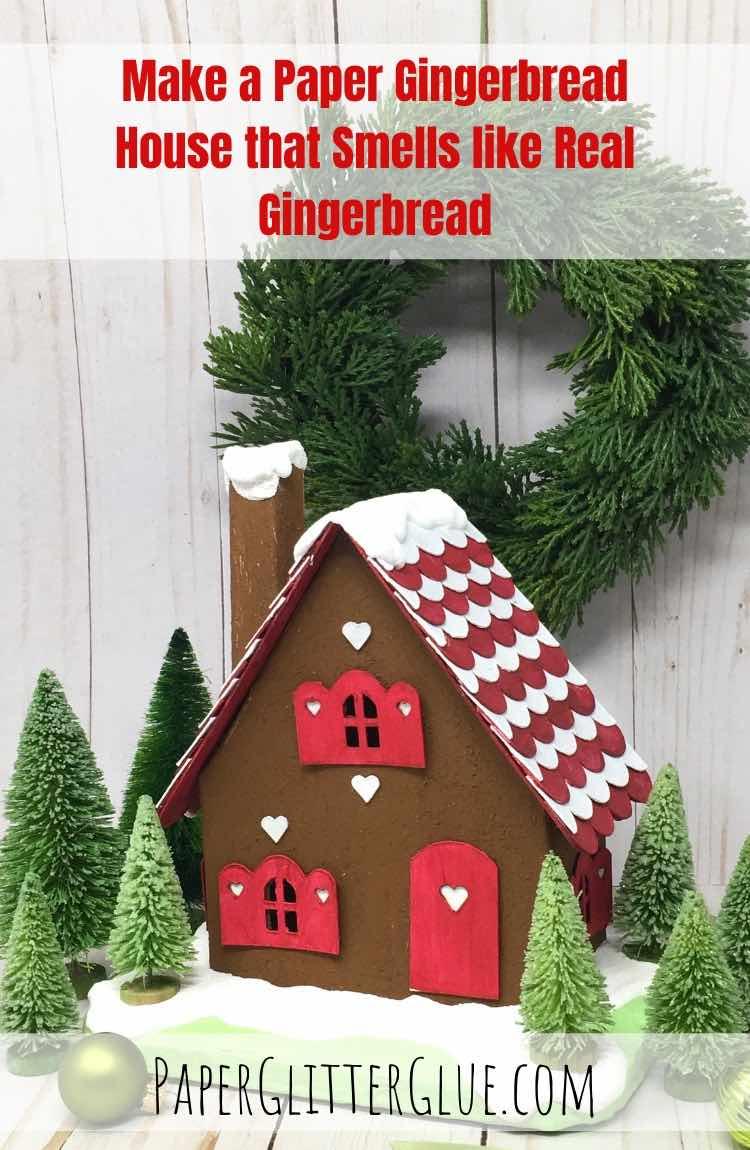 Gingerbread Cardboard Cottage